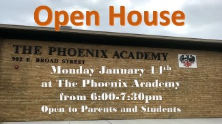 Phoenix Academy Open House Info Graphic