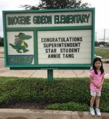 Annie Tag September Superintendent Award